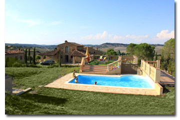 Lajatico - independent  farmhouse with private pool
